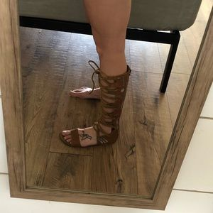 Free People Gladiator lace up Sandals